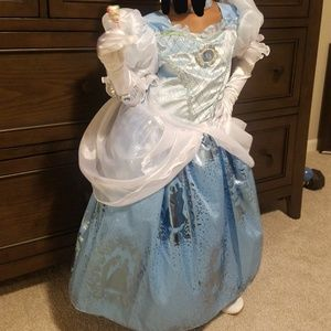 Girl's Disney Cinderella costume with accessories